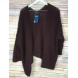NWT BRANDY MELVILLE Burgundy Cardigan Sweater OS